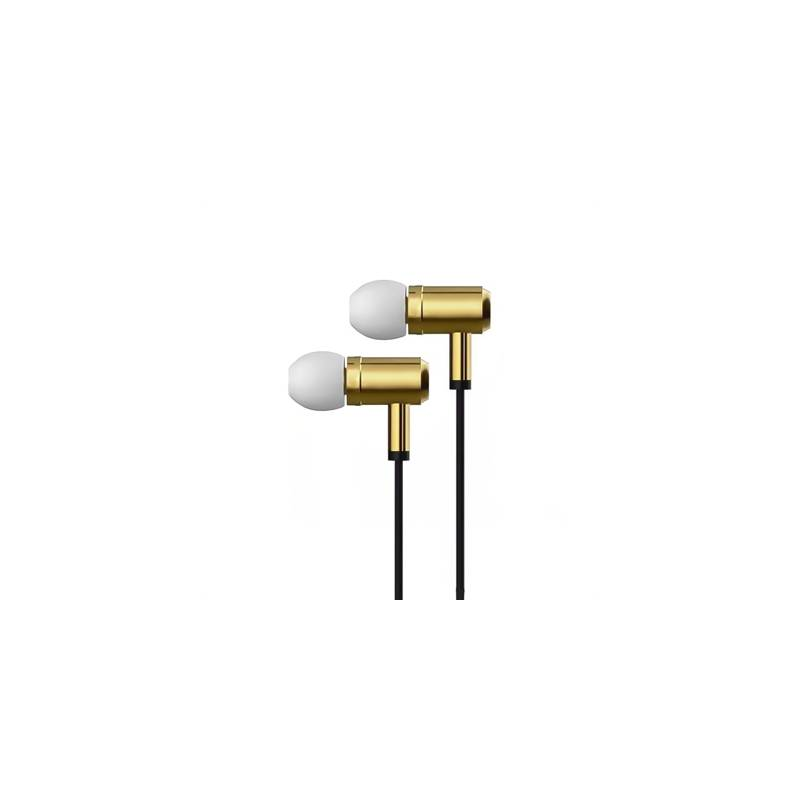 X-One AMI1000G Auriculares In-Ear +mic metal Oro - Imagen 1