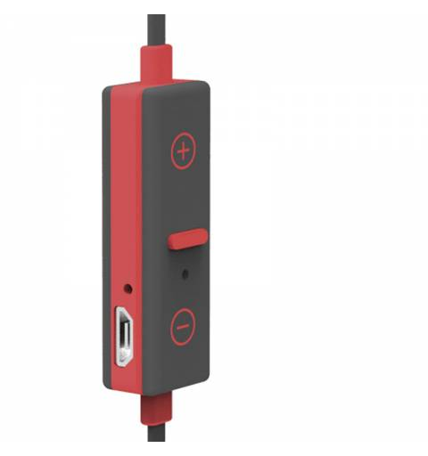 X-One ASBT1000R Auriculares Bluetooth +microf Rojo - Imagen 3