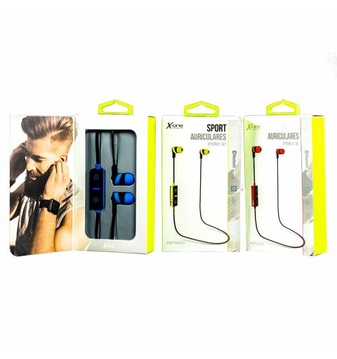 X-One ASBT1000R Auriculares Bluetooth +microf Rojo - Imagen 4