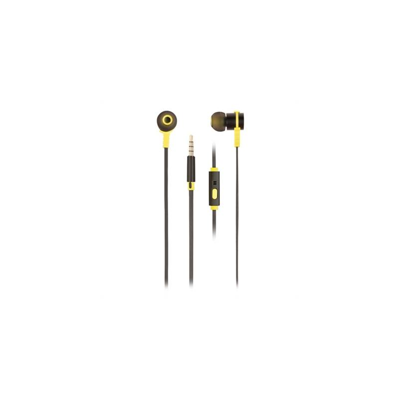 NGS Auriculares metálicos cplano 1.2m Negro - Imagen 1
